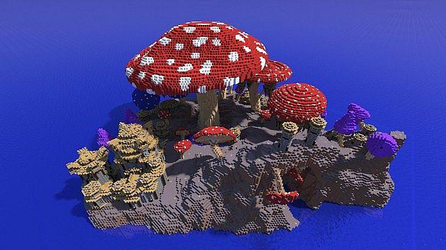 Pollux mushroom world build minecraft ideas kingdom 2