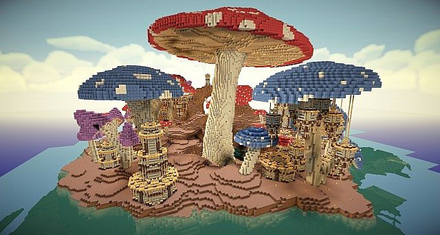 pollux mushroom world build minecraft building inc. Black Bedroom Furniture Sets. Home Design Ideas