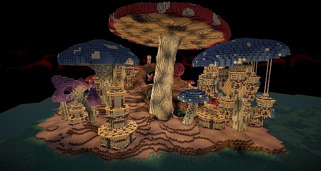 Pollux Mushroom World Build Minecraft Building Inc