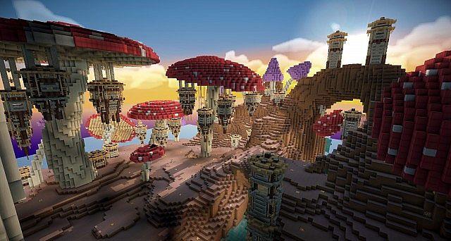 Pollux mushroom world build minecraft ideas kingdom 7