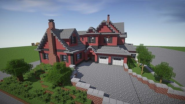 Red old mansion minecraft building inc - Minecraft house ideas ...