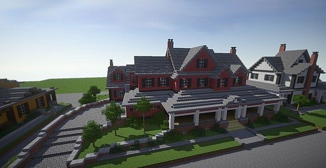 Red Old Mansion – Minecraft Building IncMinecraft Mansion Ideas