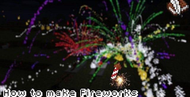 minecraft how to make fireworks