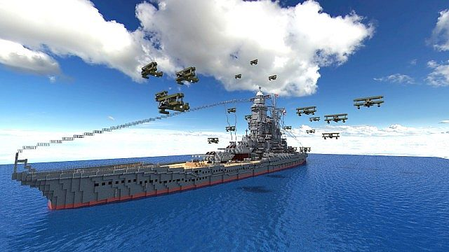 Battleship [ Umi Hime ] minecraft build 2