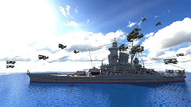 Battleship [ Umi Hime ] minecraft build 5