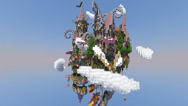 Corkscrew Island Floating Minecraft Building Inc