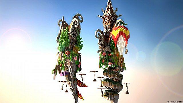 Corckscrew Island World Minecraft ideas