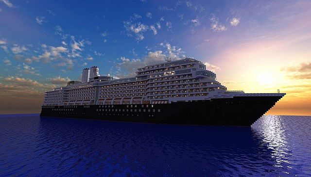 M S Eurodam Cruise Ship 1 1 Scale Real Ship Minecraft