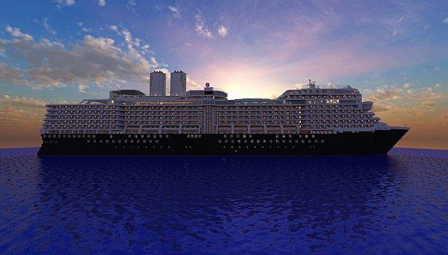MS Eurodam Cruise Ship 1 to 1 Scale building ideas minecraft sea 3