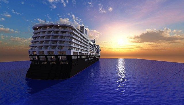 MS Eurodam Cruise Ship 1 to 1 Scale building ideas minecraft sea 4