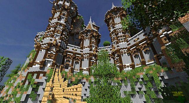 Medieval Castle and Village minecraft building ideas 4