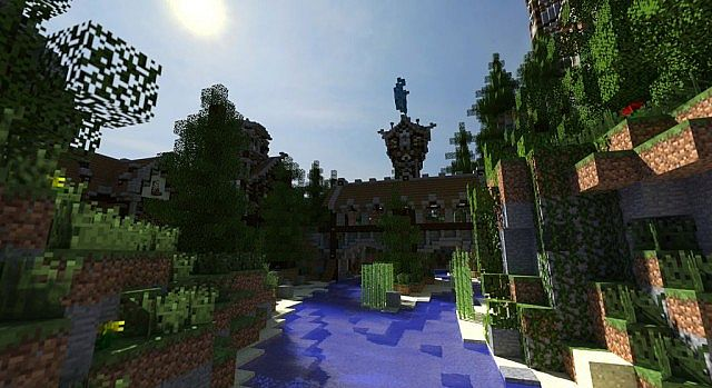 Medieval castle and village minecraft building ideas 5