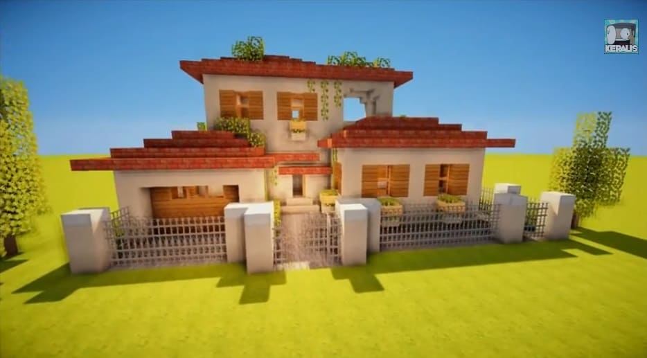 How to make an italian villa minecraft building inc for How to make a house step by step