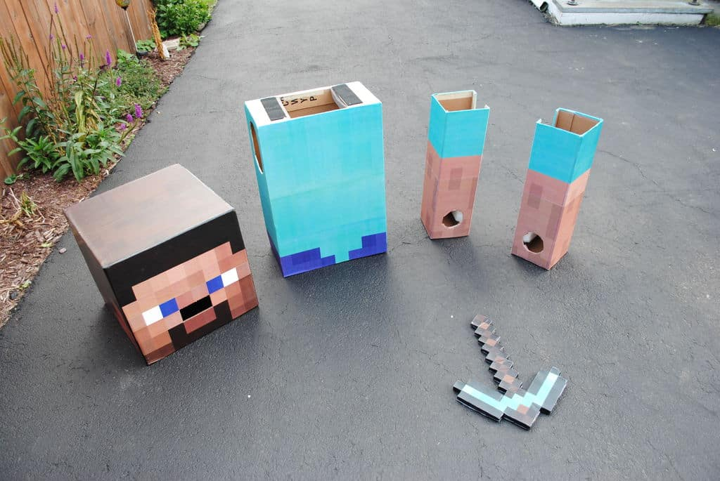 Minecraft steve costume ideas 3