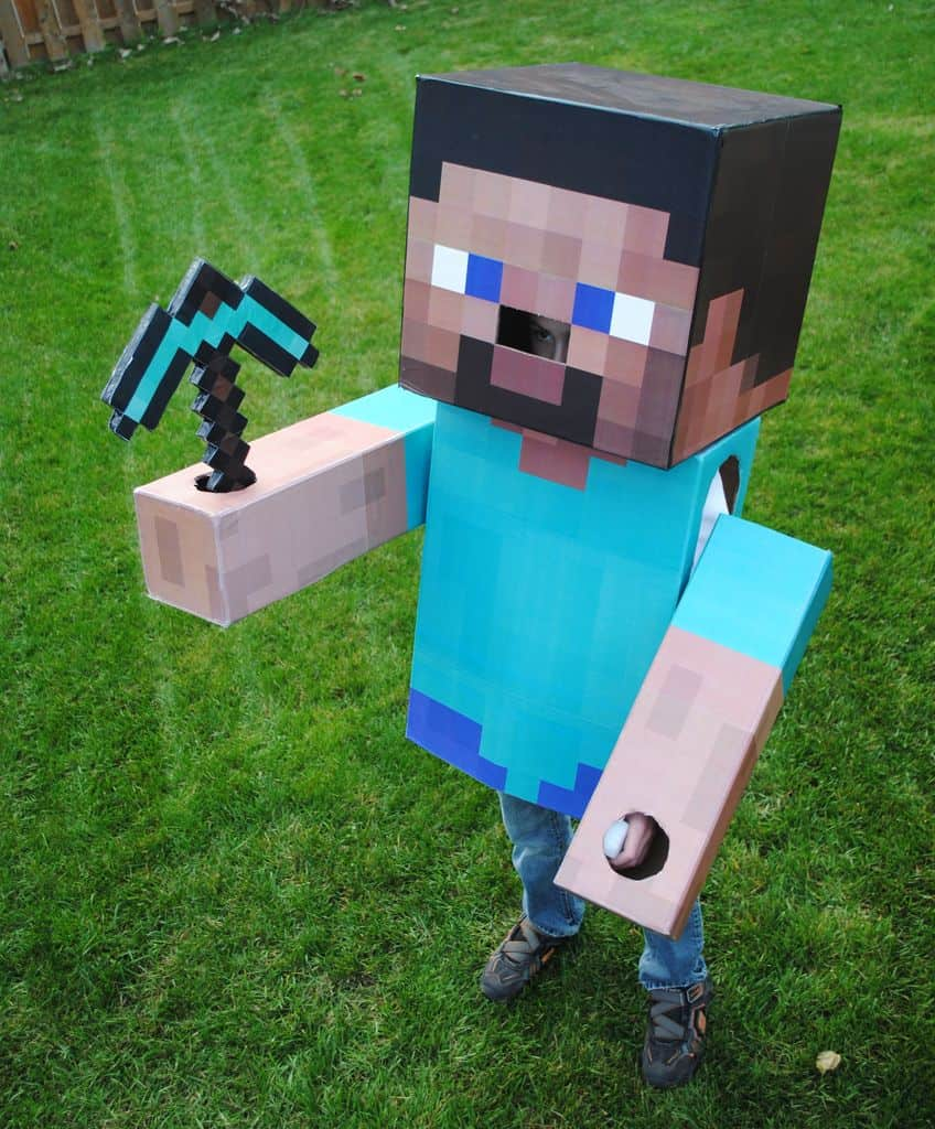 Minecraft steve costume ideas