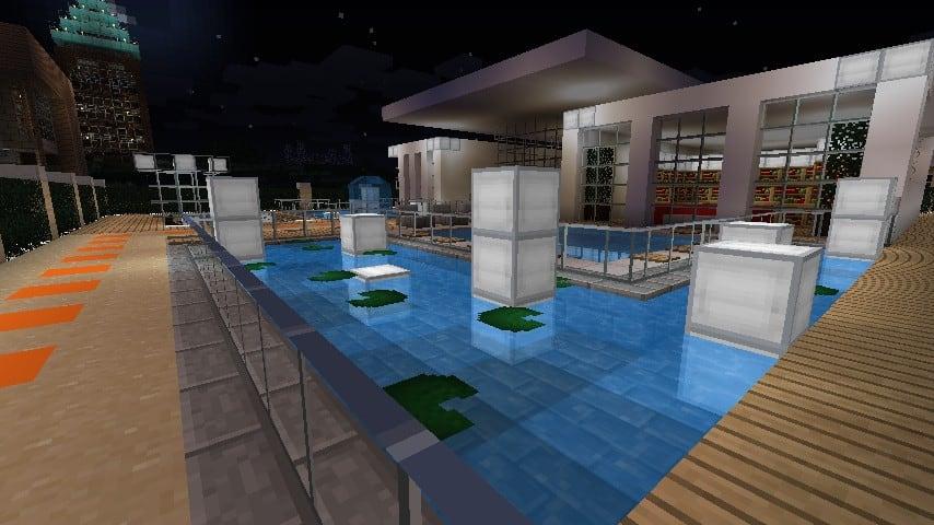 Modern Resort House minecraft building 10