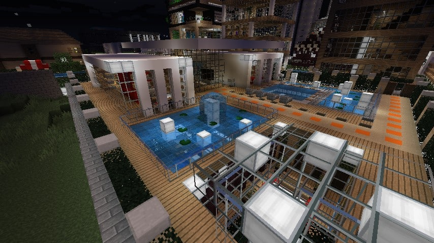 Modern Resort House minecraft building 13