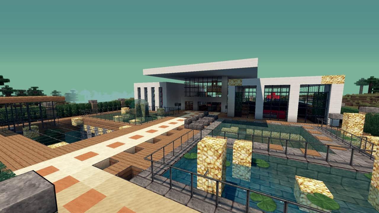 Modern Resort House minecraft building 2
