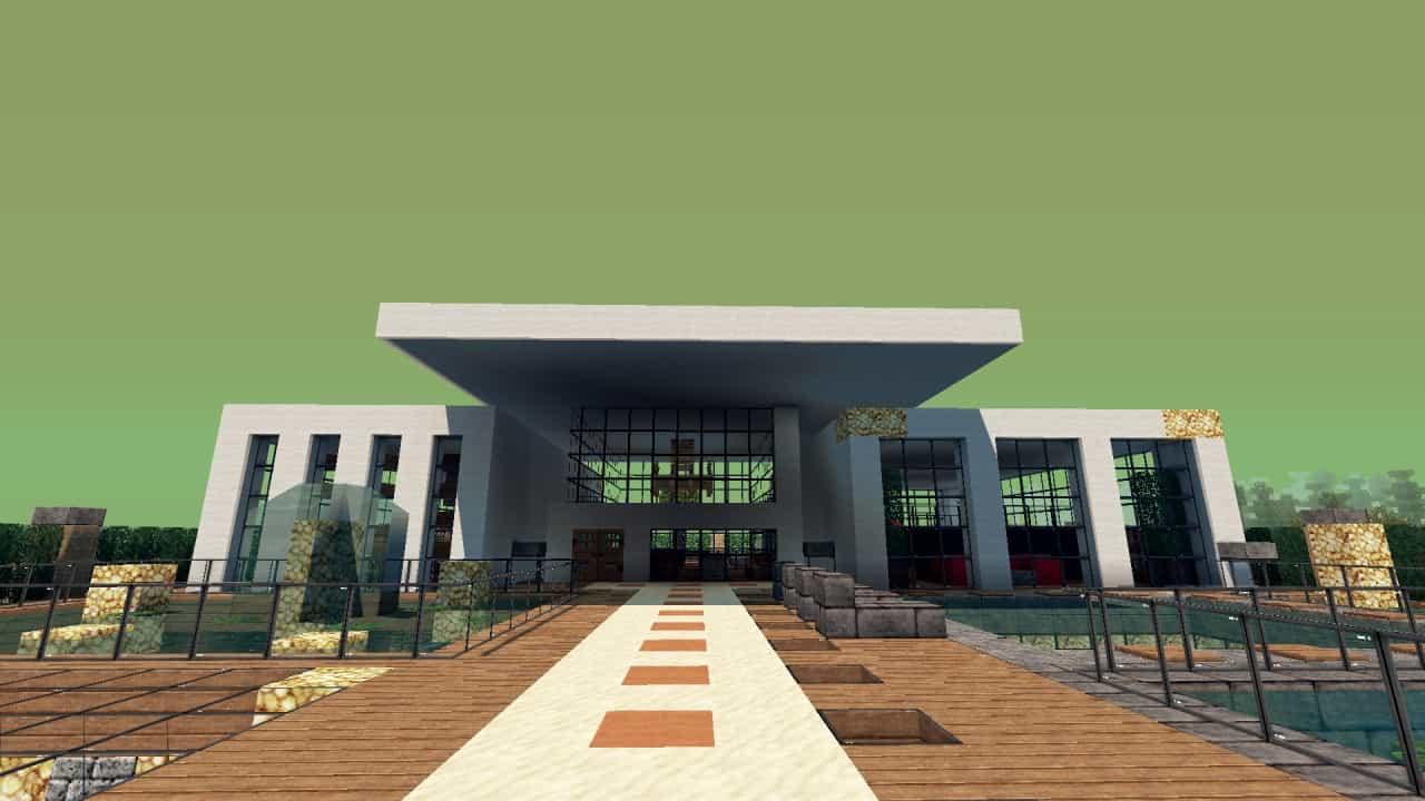 Modern Resort House minecraft building 3