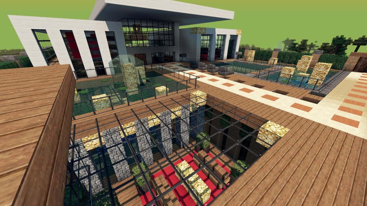 Modern Resort House minecraft building 4