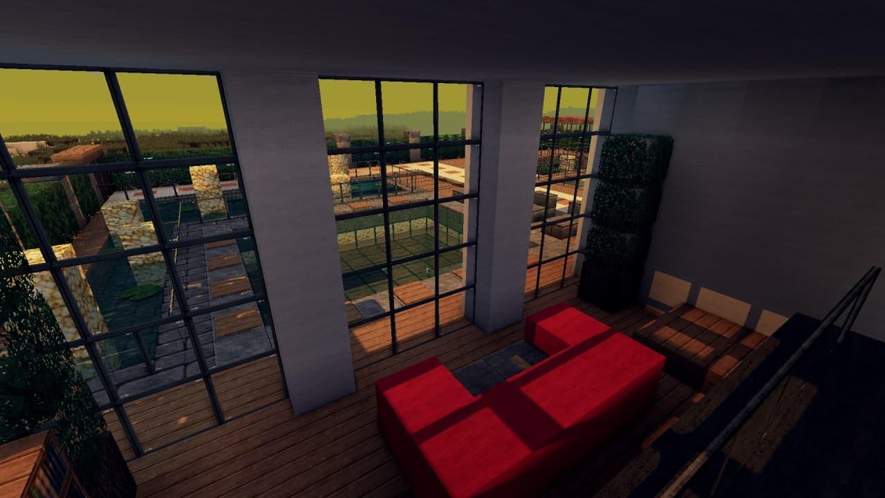Modern Resort House minecraft building 5