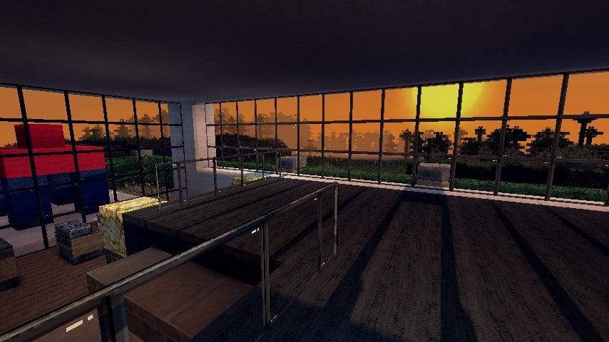 Modern Resort House minecraft building 7