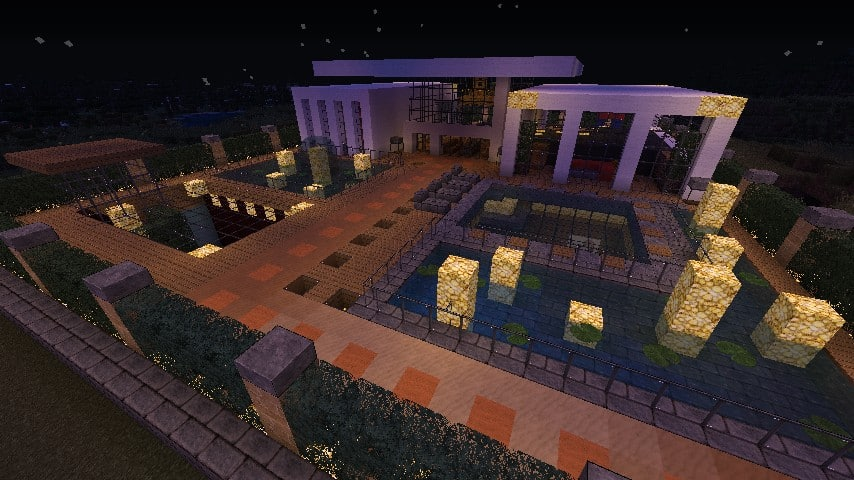 Modern Resort House minecraft building 9