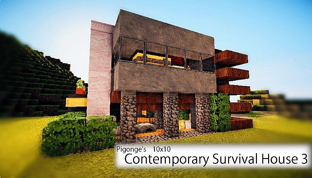 survival craft building ideas contemporary survival house 3 minecraft building inc 5530