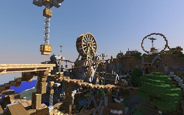 Spaghetti - Steampunk amusement park-city minecraft 2