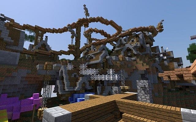 Spaghetti - Steampunk amusement park-city minecraft 3