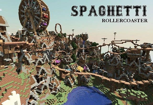 Spaghetti - Steampunk amusement park-city minecraft