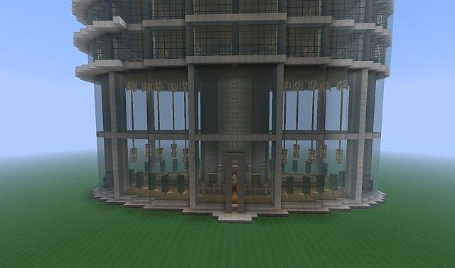 Spiral Tower minecraft skyscraper build 2
