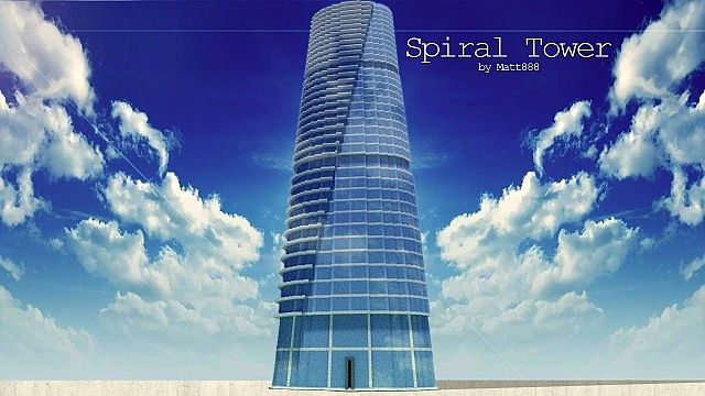Spiral Tower Minecraft Building Inc