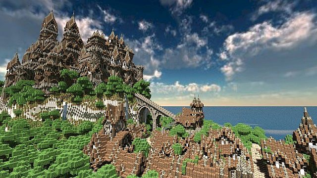 The Isles of Alteria minecraft town building 3