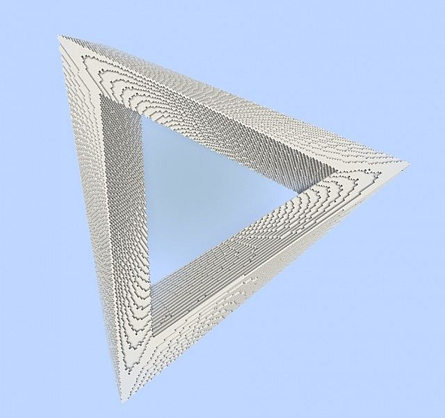 Penrose Triangle - Impossible Optical illusion minecraft building