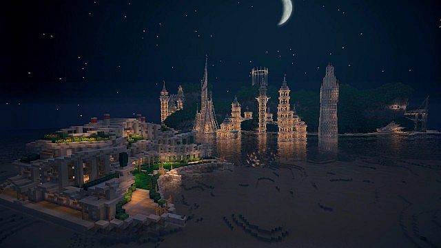 Timelapse Hydros the Evolving City of Tomorrow minecraft building 4