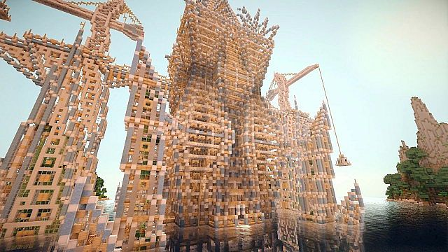 Timelapse Hydros the Evolving City of Tomorrow minecraft building 5
