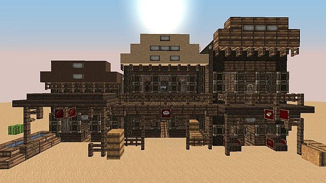 Minecraft western buildings