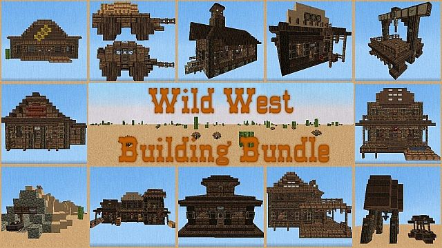 Wild west building bundle minecraft building inc