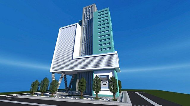 Dash towers modern skyscraper minecraft building inc for Modern building design minecraft