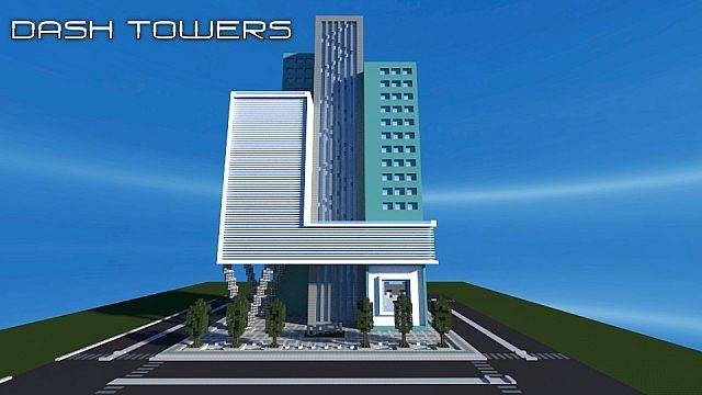 dash towers minecraft building skyscraper