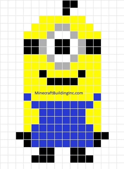 despicable me minion minecraft template