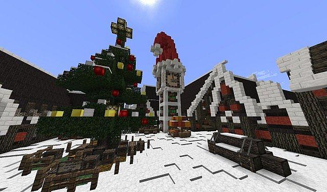 Christmas Village I Merry Christmas minecraft town building ideas 2