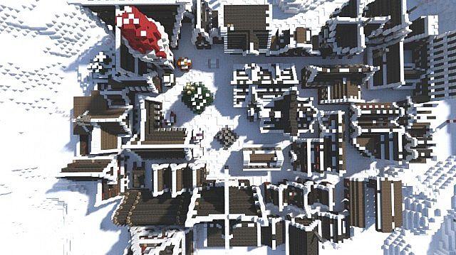 Christmas Village I Merry Christmas minecraft town building ideas 3