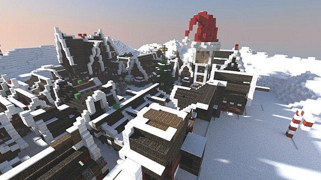 Christmas Village I Merry Christmas minecraft town building ideas