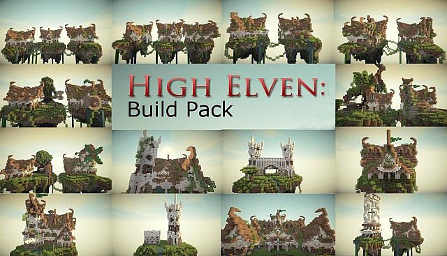 High Elven Build Pack ciy minecraft building ideas