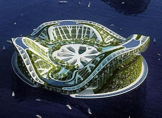 Lilypad city Eco floating city minecraft building ideas 2
