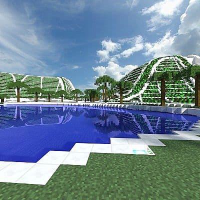 Lilypad city Eco floating city minecraft building ideas 3