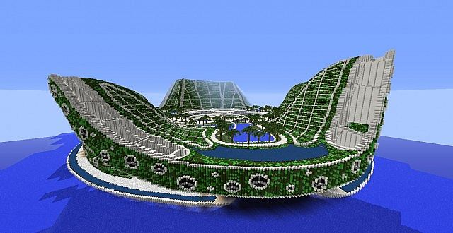 lilypad city eco floating city minecraft building ideas 4 - Lilypad Architecture