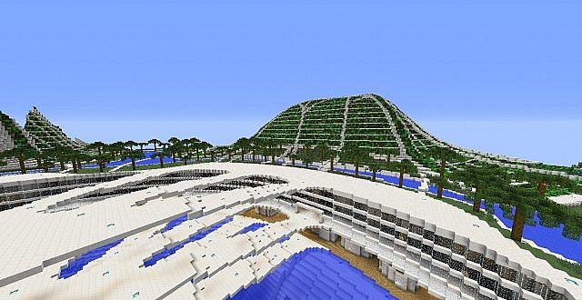 Lilypad city Eco floating city minecraft building ideas 5